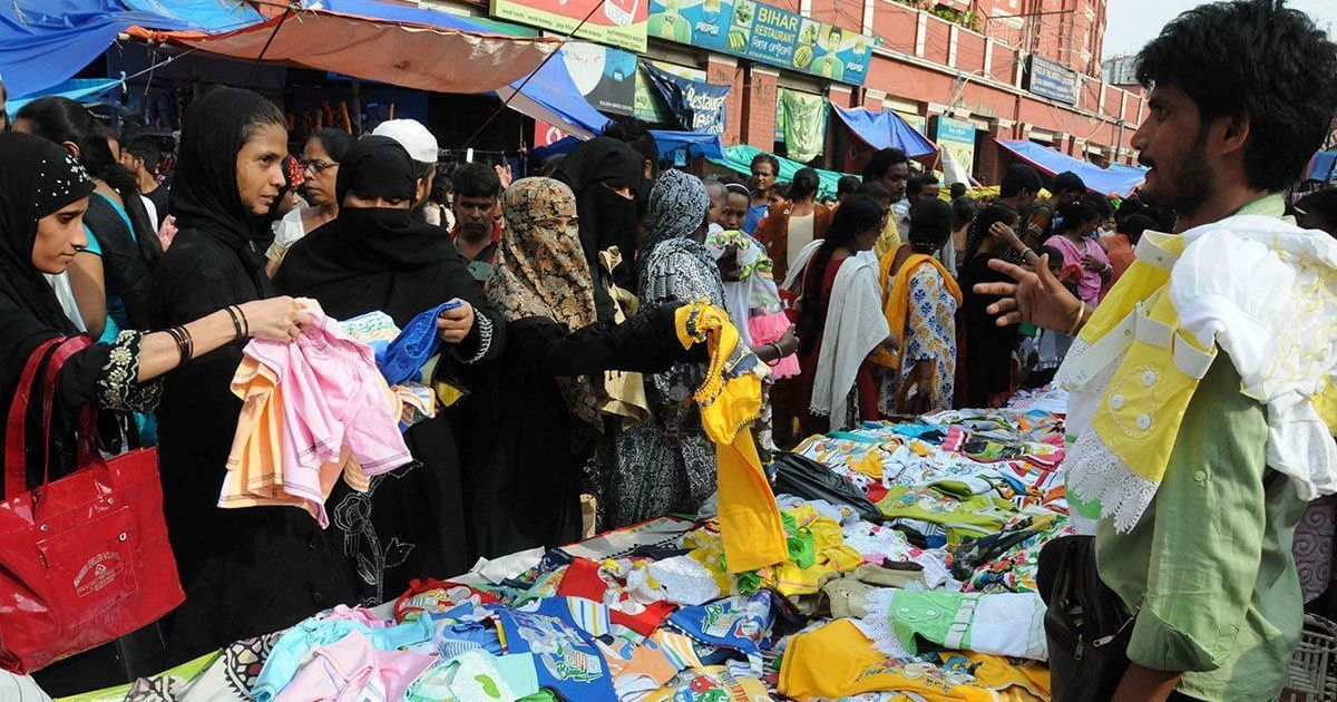 Bangladeshis are flooding india for eid shopping and for Bano market faisalabad dresses