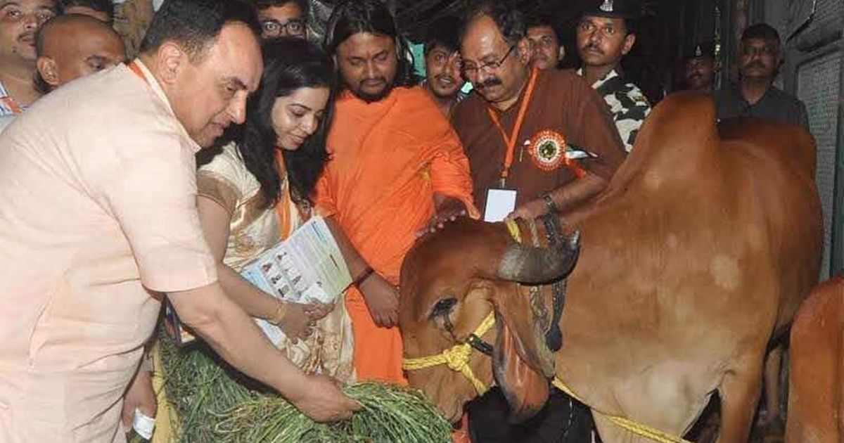 Gaurakshaks get awards at a conference on cows at the Bombay Stock Exchange