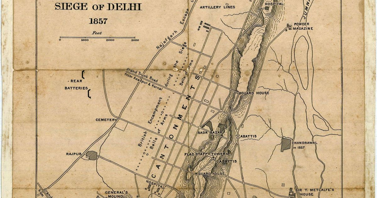 Six Delhi maps chart the city's evolution from 1807 to 2021