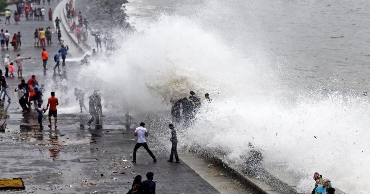 Mumbai Rain Girl Washed Away At Marine Drive As City