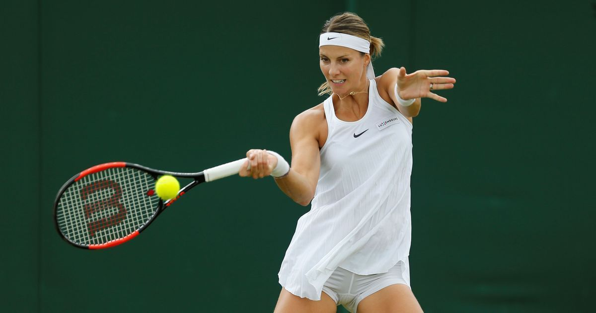 Luxembourg's Mandy Minella plays Wimbledon while 4.5 months pregnant