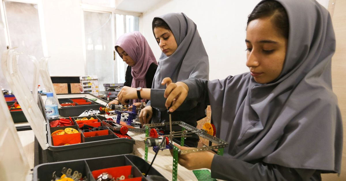 Afghan robotics team to watch their creation compete via Skype