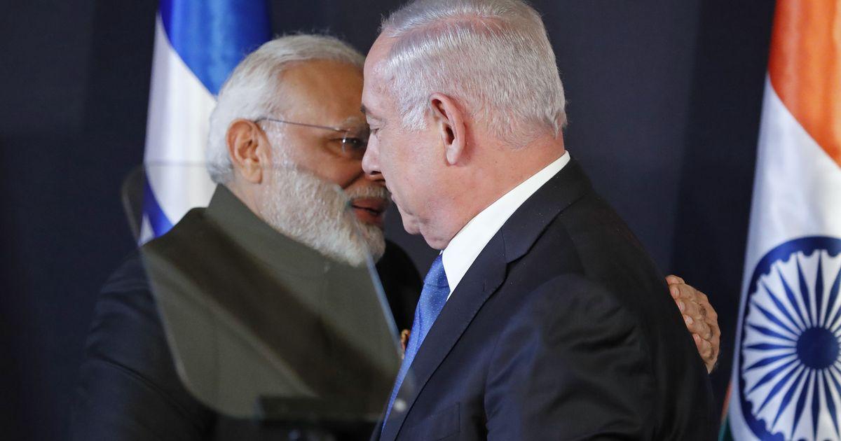 इजरायल के चुनाव में नरेंद्र मोदी की तस्वीर