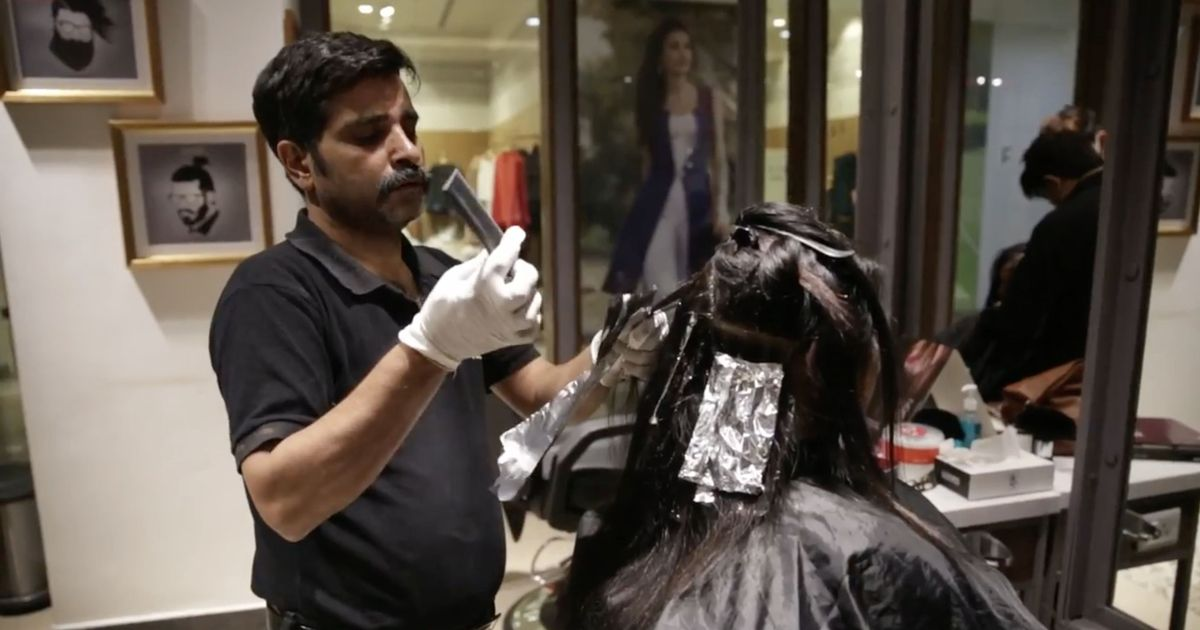 Video: Meet the men who help run a beauty parlour in Noida