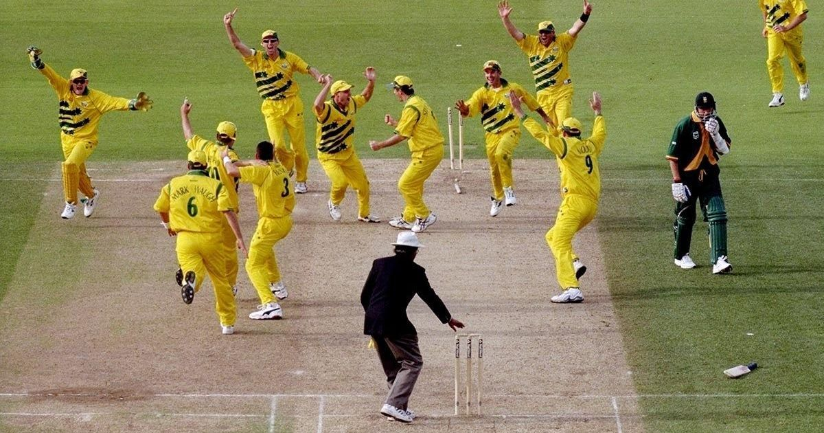 Image result for 1999 world cup aus vs sa