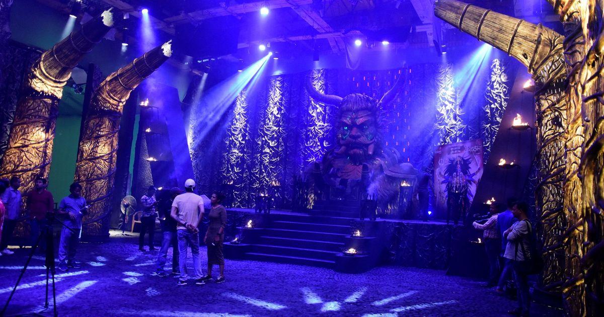 On the sets of Colors Television mythological show 'Mahakali'
