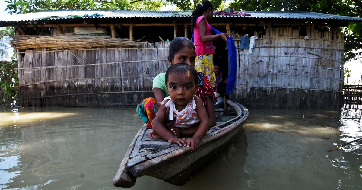 Assam More than 3.5 lakh people affected in fresh wave of floods