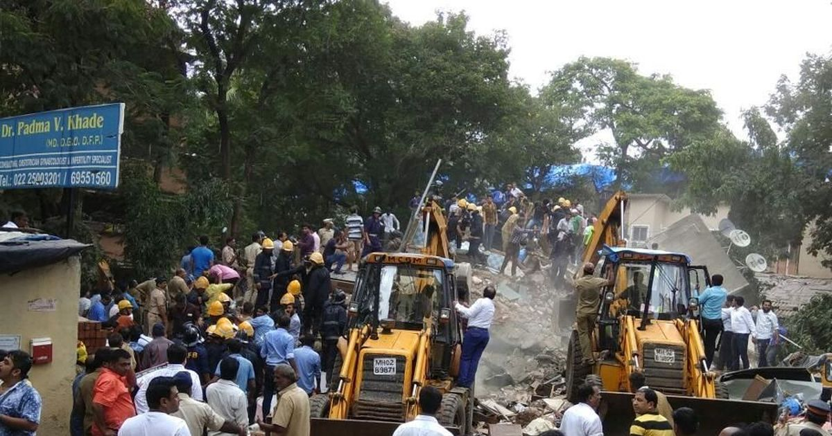 Mumbai: Eight dead, many feared trapped as residential building collapses in Ghatkopar