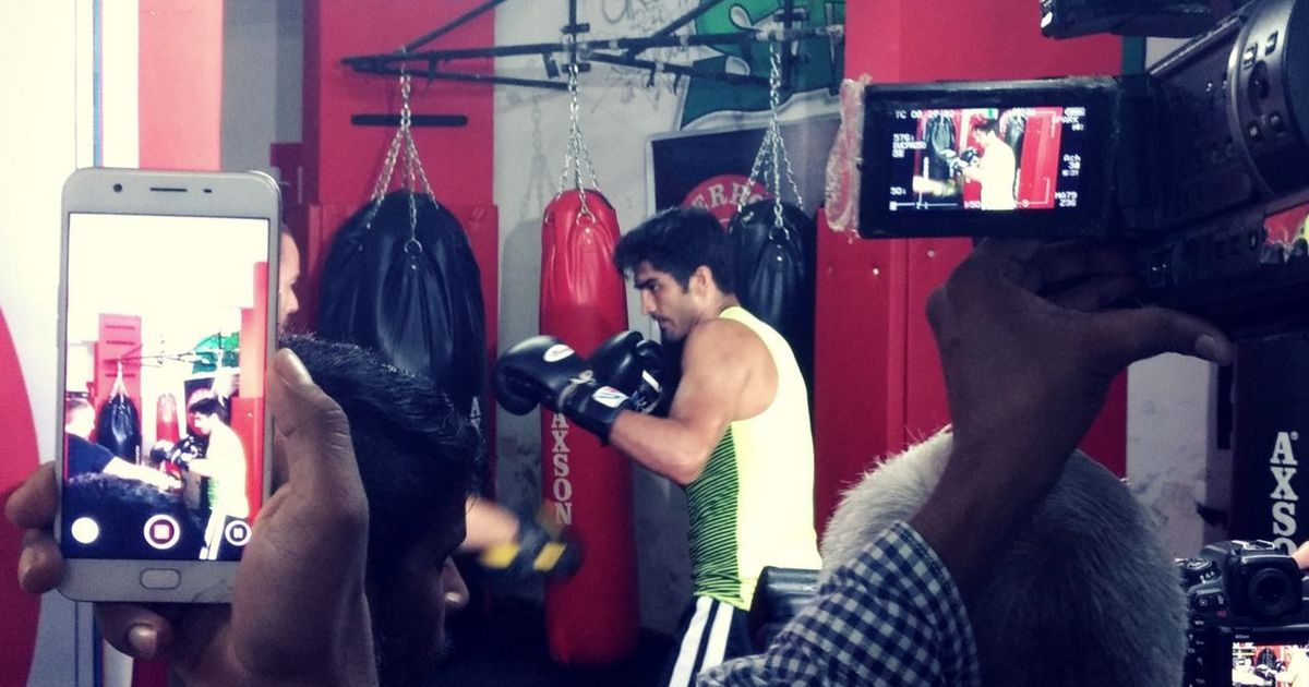 Vijender Singh's challenge is to keep his focus on the fight ahead of Battleground Asia