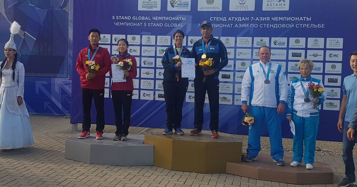 Mairaj Ahmad Khan and Rashmmi Rathore bag mixed skeet gold at Asian Shotgun Championships
