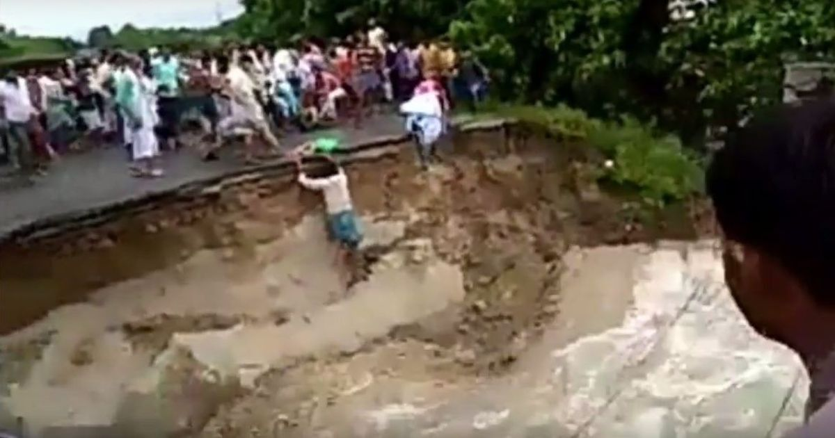 Watch: A bridge collapses over a raging river in Bihar's Araria district, three killed