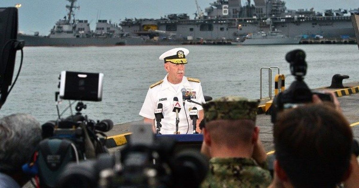 Navy says 10 sailors missing after U.S. destroyer collides with tanker