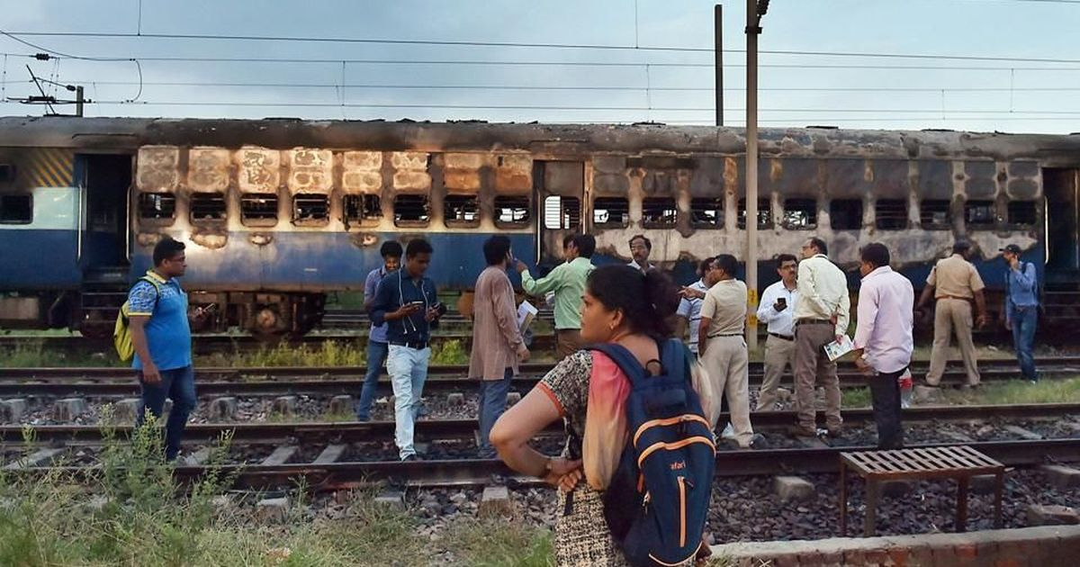 Image result for 4 Ram Rahim followers held for torching rail coaches