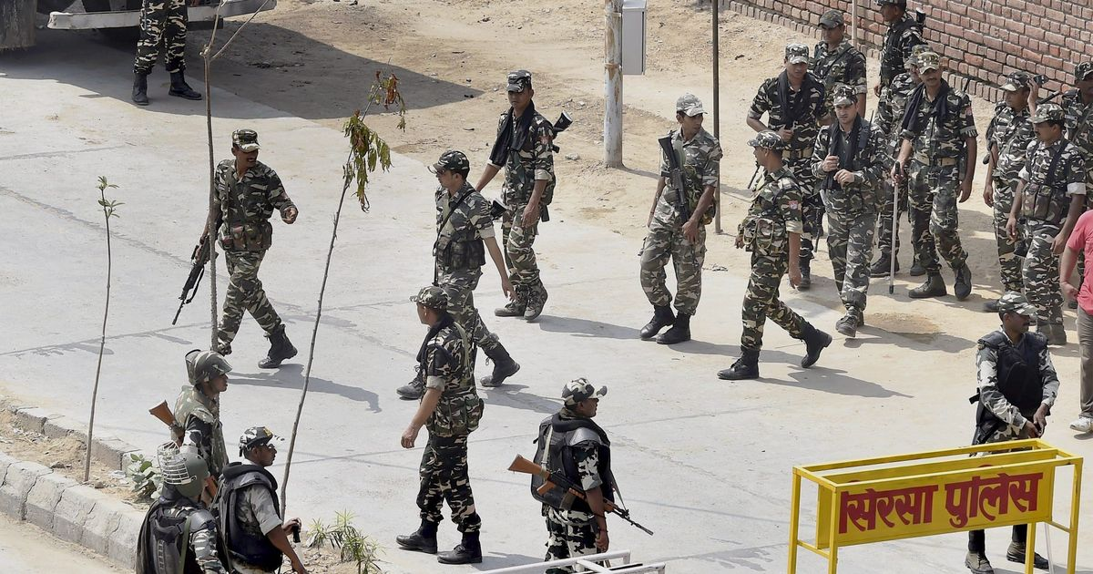 Sirsa shutdown as security forces 'sanitise' rapist godman Ram Rahim Singh's Dera