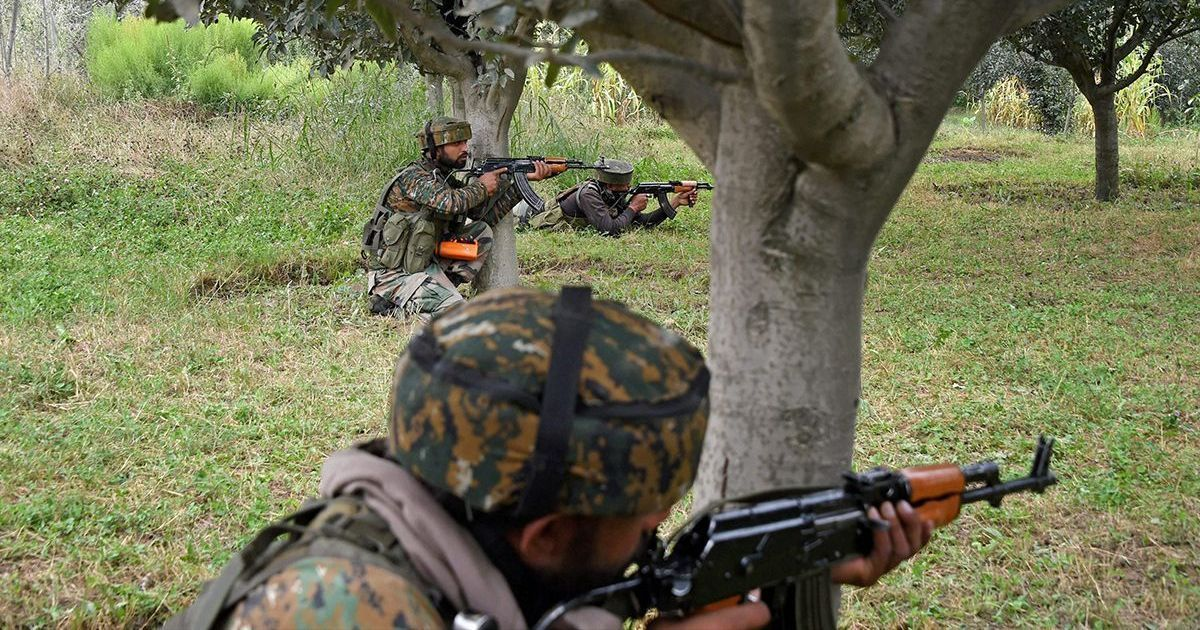 Jammu and Kashmir Two Air Force officials 2 militants killed in encounter in Bandipora