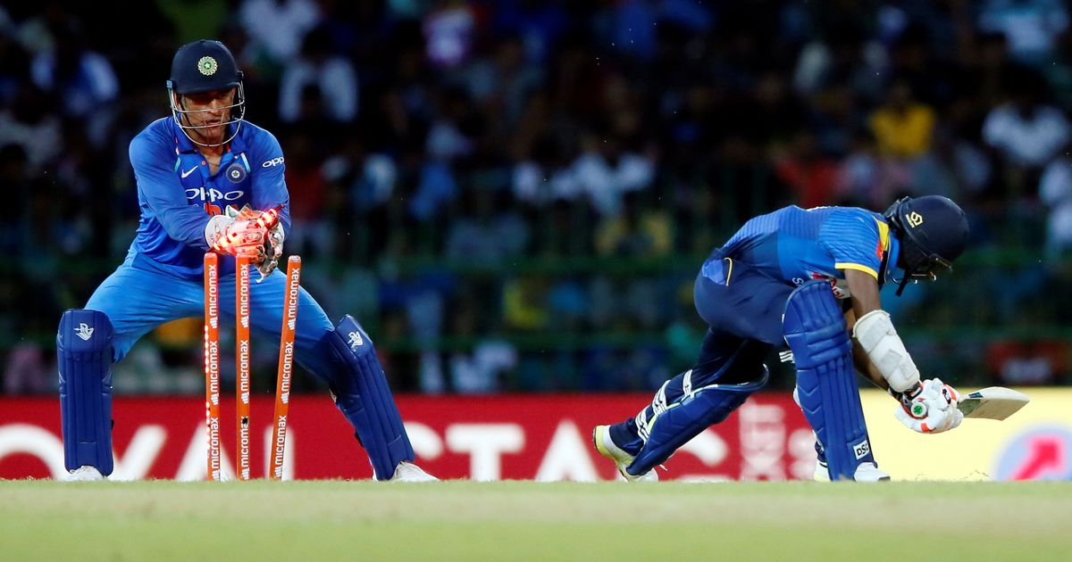 Image result for Dhoni completes world record of 100 stumpings in ODIs