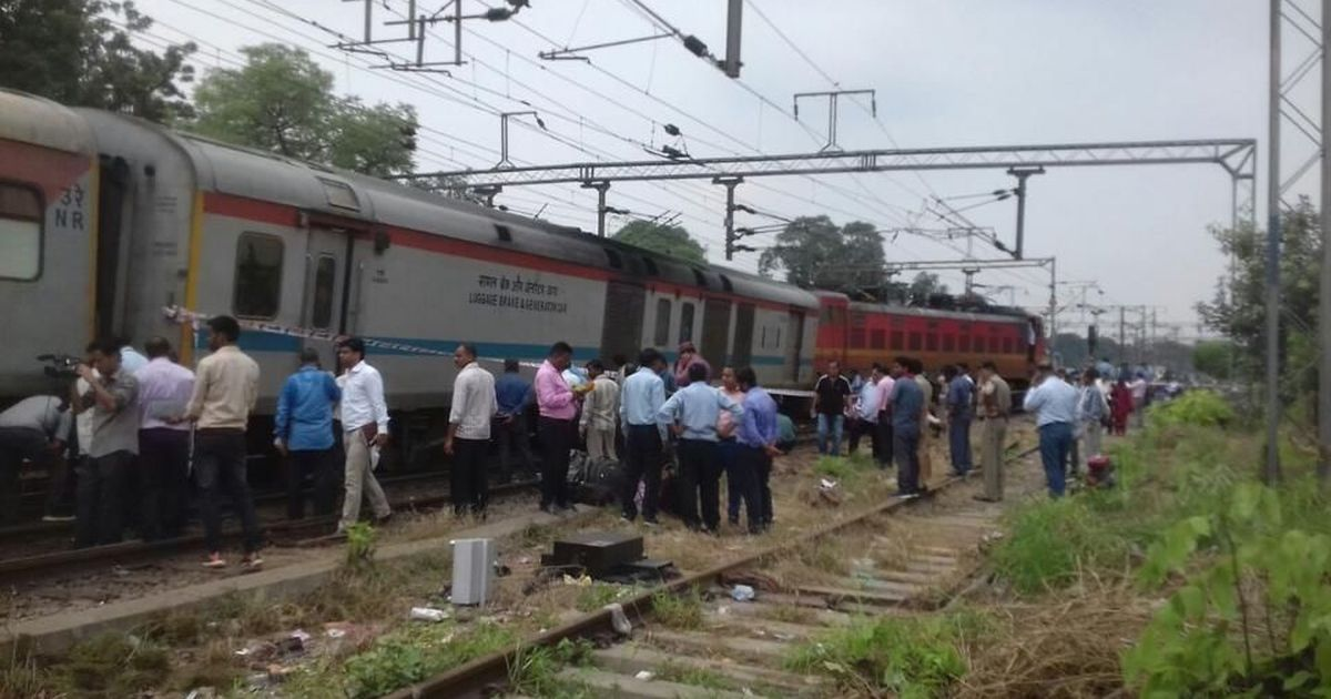 Engine power coach of Rajdhani Express derailed near New Delhi no injuries reported