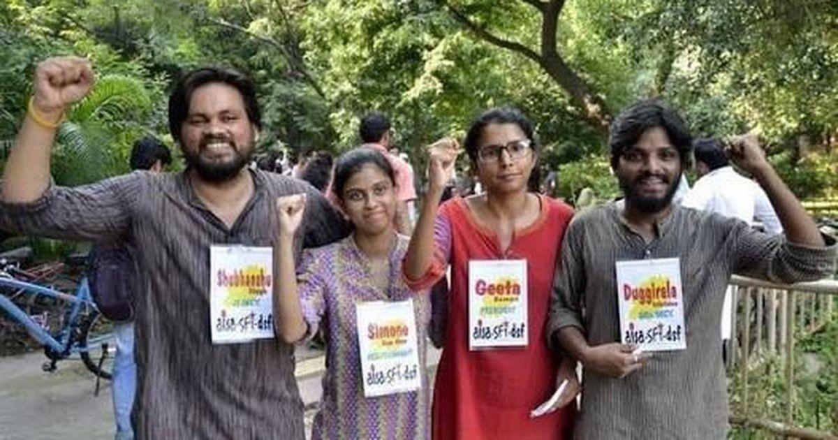 Left alliance beats ABVP to win JNU student elections, Bapsa comes third