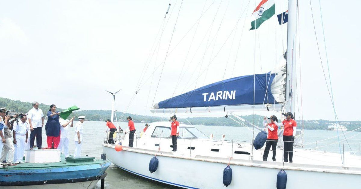 Six-women Indian Navy team embarks on historic voyage around globe