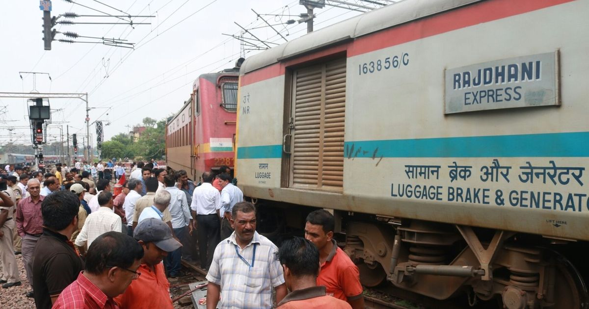 Guard coach of Rajdhani Express gets derailed at New Delhi station, no casualties