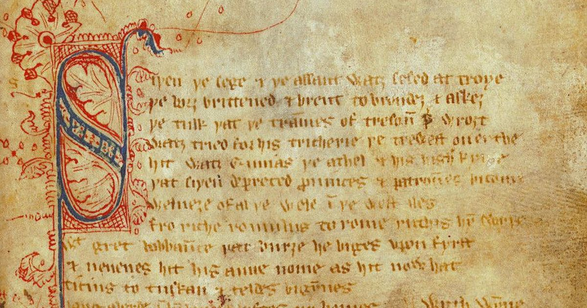 What led to the 13th-century revolution that made modern English poetry possible?