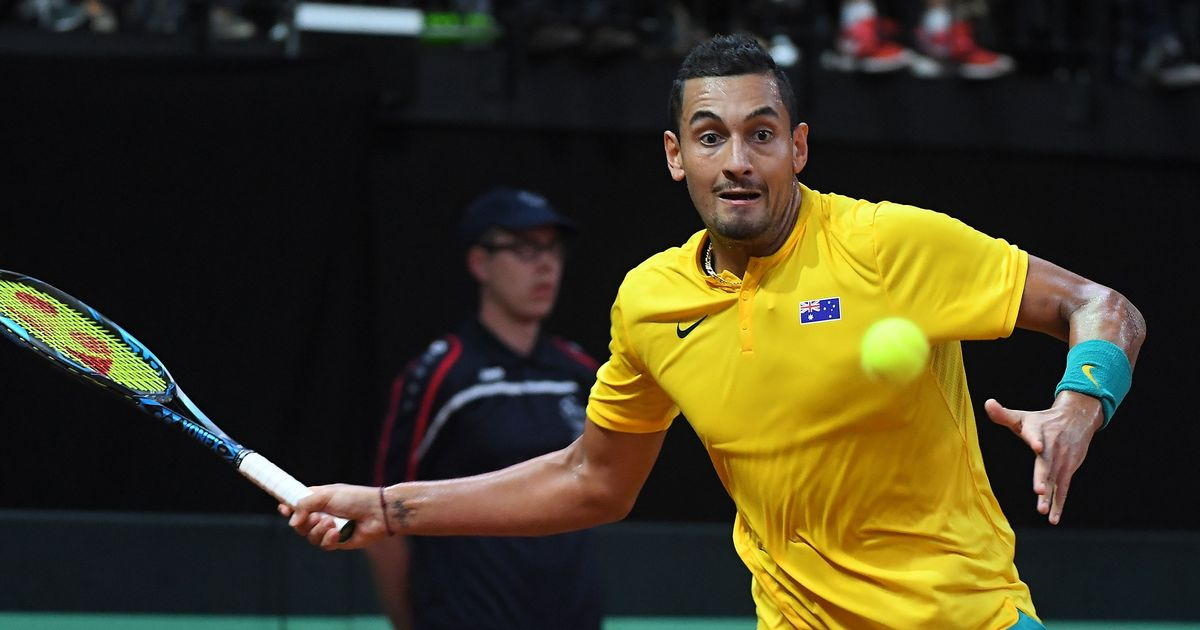 Davis Cup: Nick Kyrgios helps Australia level with Belgium in World Group semi-final