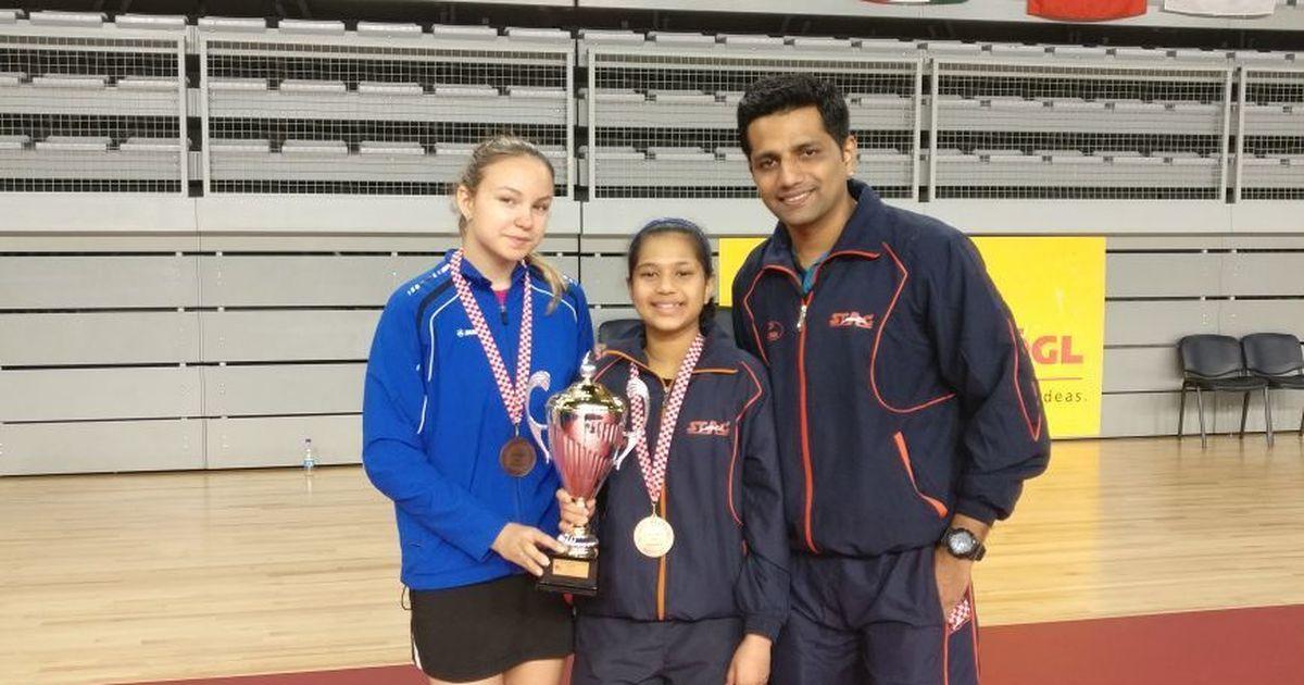 India paddler Diya Chitale wins bronze at Croatia Junior and Cadet Open