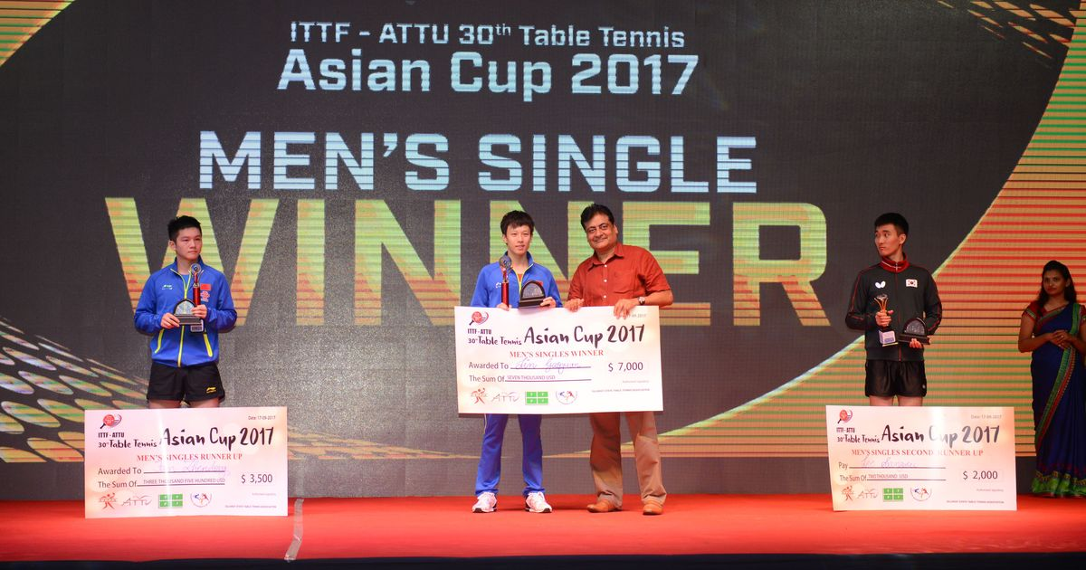 Asian Cup table tennis: China sweep gold and silver in the men's as well as women's singles
