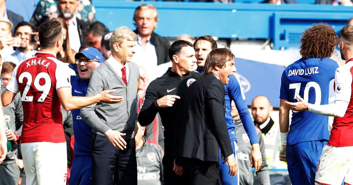 Premier League: Chelsea's David Luiz sent off in Arsenal stalemate