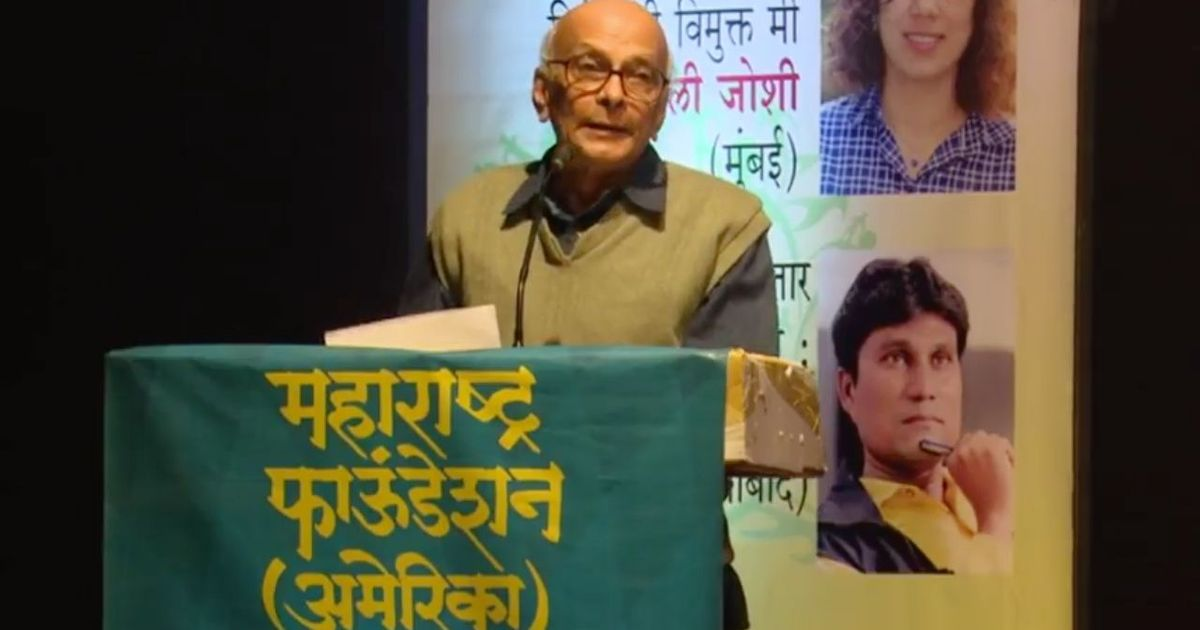 Marathi journalist Arun Sadhu dies at 76 in Mumbai