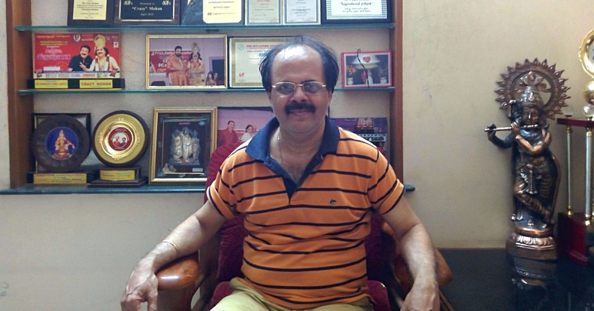 Veteran Tamil writer and actor 'Crazy' Mohan dies at 67