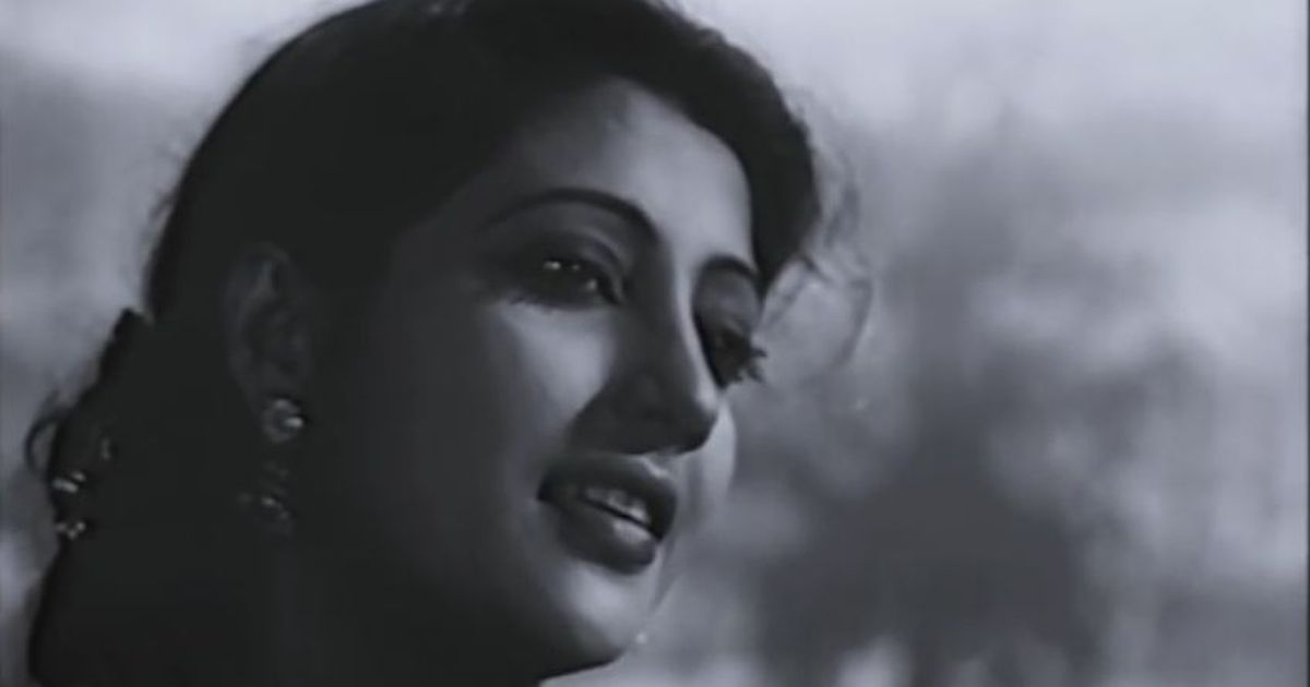 Picture the song: An iconic screen romance begins with 'Gaane Mor Kon Indradhanu'