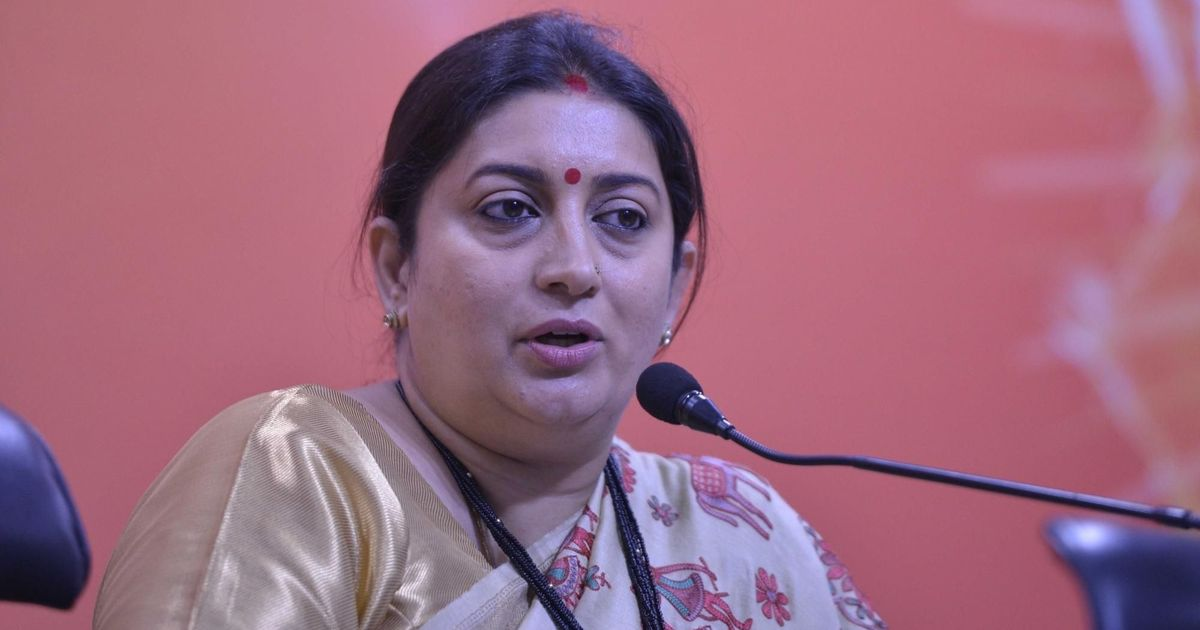 Rahul Gandhi supported anti-nationals in Delhi, says Smriti Irani