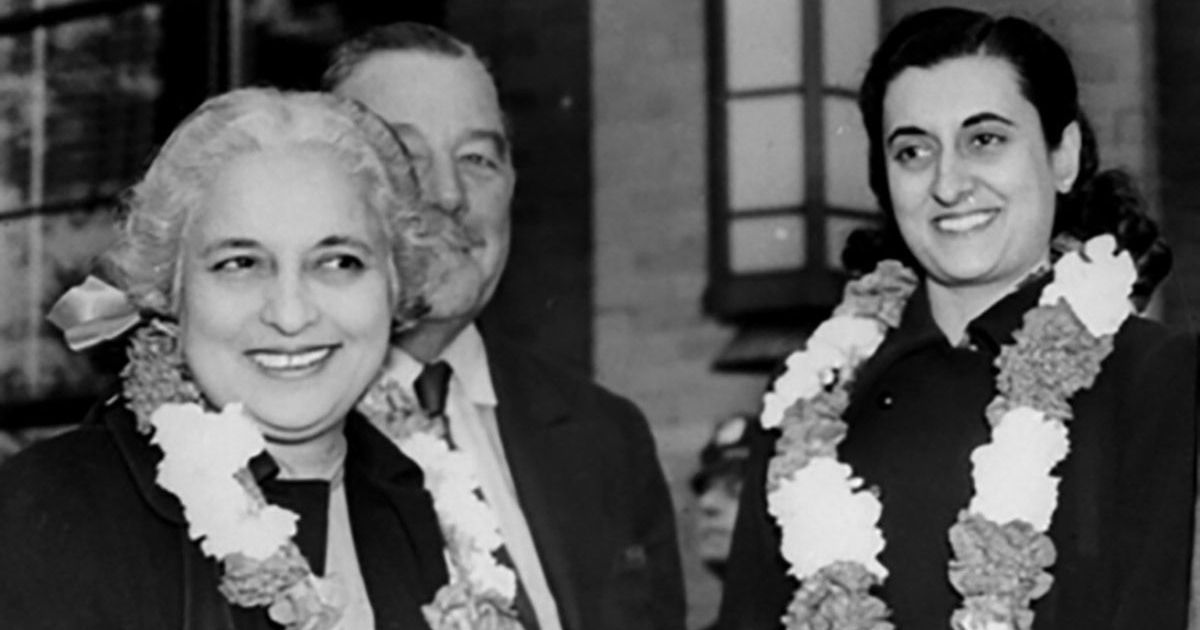 When her aunt Vijaya Lakshmi Pandit took on Indira Gandhi for crushing democracy and dissent