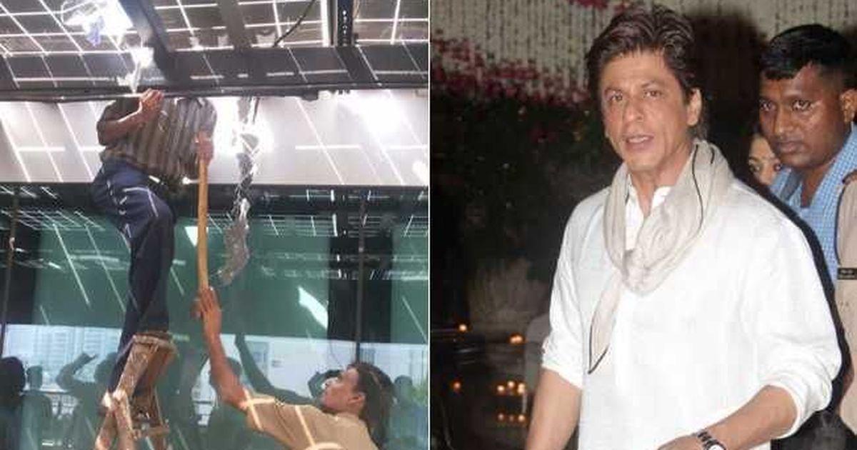 बीएमसी ने शाहरुख़ खान के स्टूडियाे में बनी अवैध कैंटीन तोड़ी