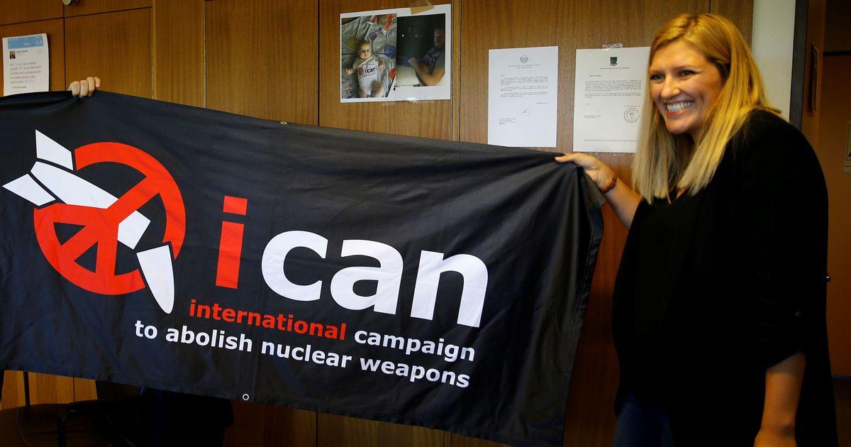 दुनिया को परमाणु हथियार मुक्त बनाने के अंतरराष्ट्रीय अभियान को शांति का नोबेल पुरस्कार