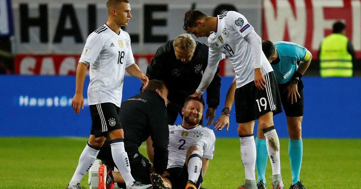 Huge blow for Arsene Wenger as defender Shkodran Mustafi suffers thigh injury