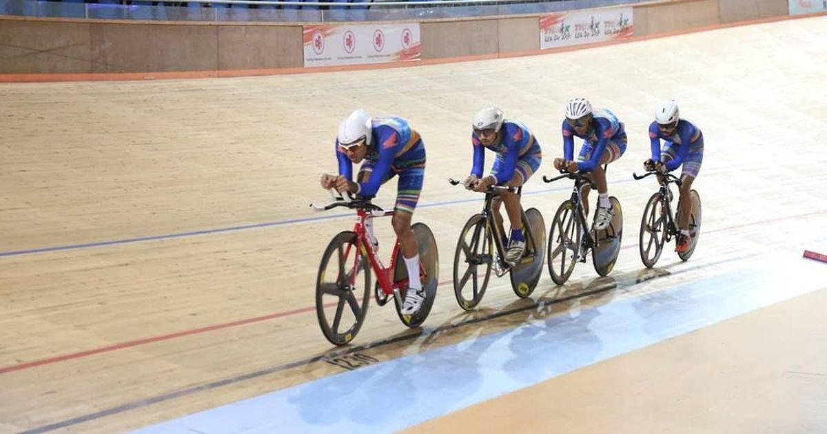India cyclists win five golds on opening day of Track Asia Cup