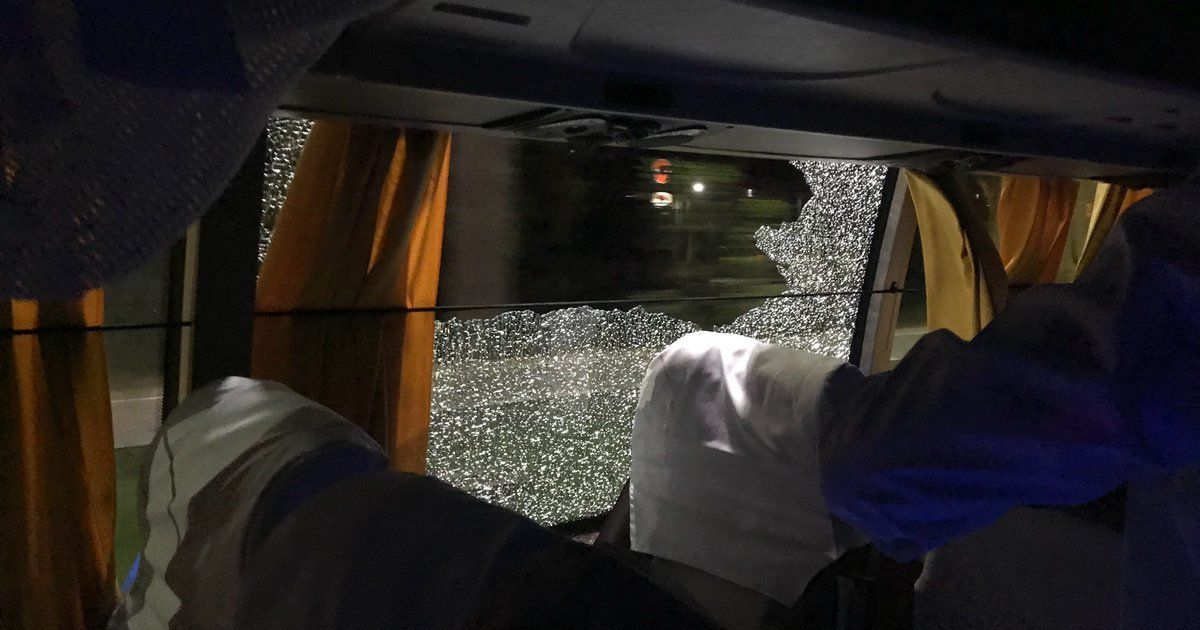 After series-levelling win over India, rock thrown at Australian team bus in Guwahati