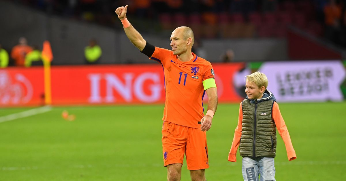 Arjen Robben retires from Netherlands duty after World Cup failure