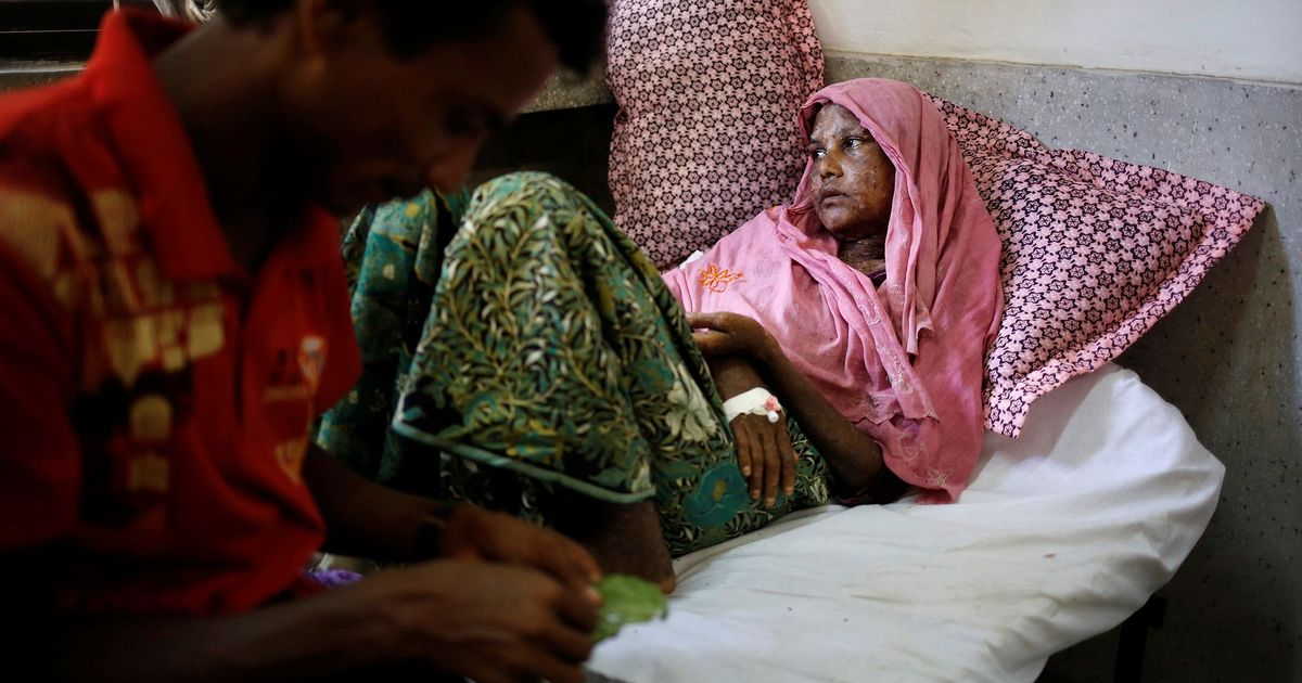 In a Bangladesh hospital's overcrowded 'Rohingya wing', sights and stories of unbearable pain