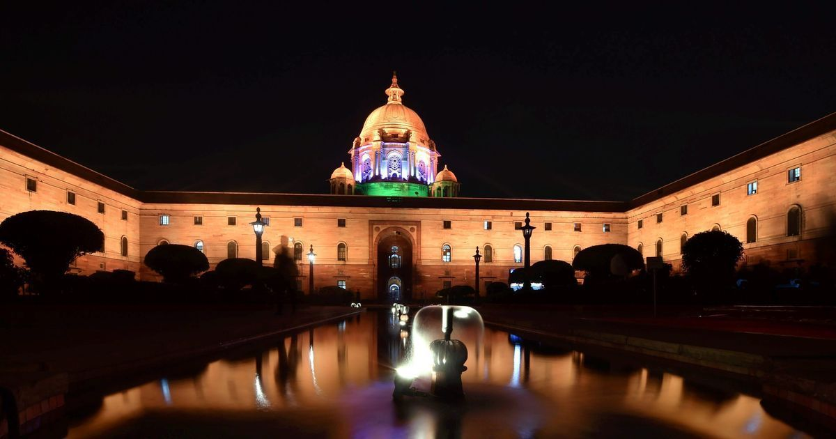 In photos: A lit-up Raisina Hills impresses as it begins nightly illuminated display