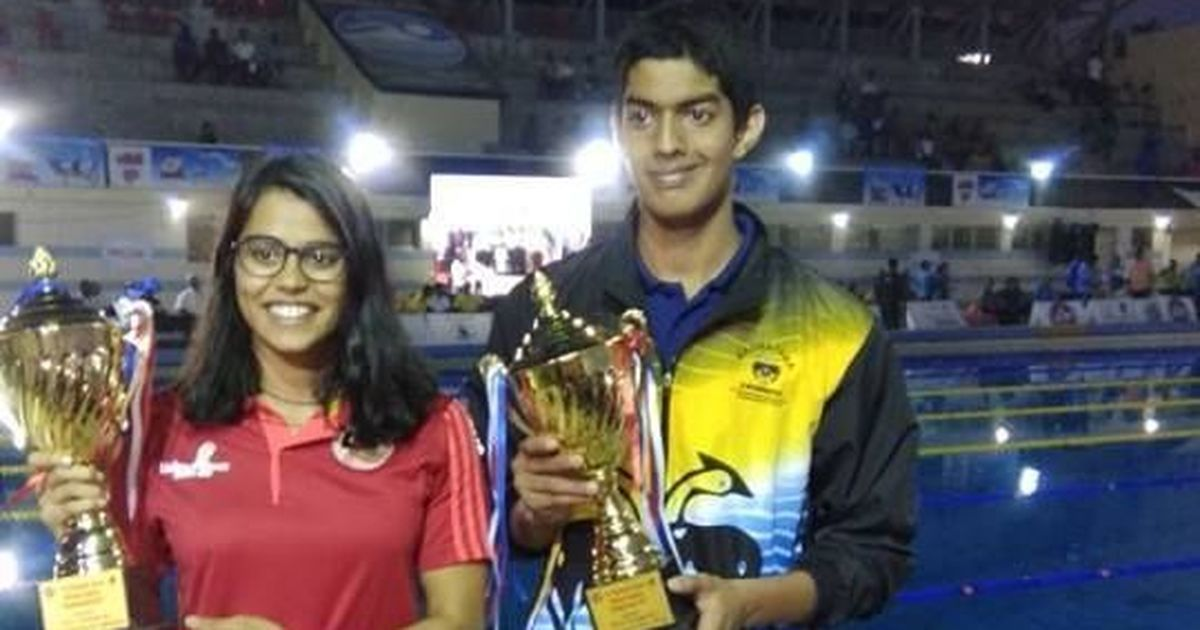 Srihari Nataraj and Shivani Kataria named 'Best Swimmers' at National Championships