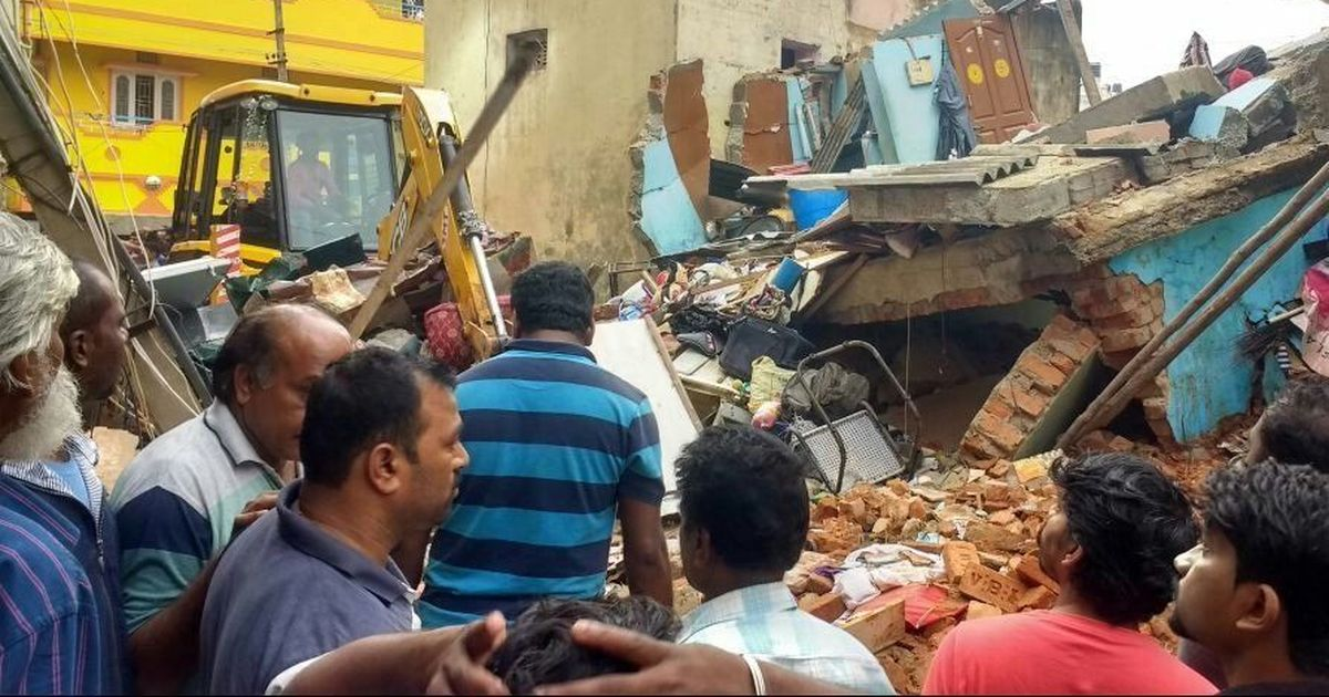 At least six dead after building crumbles downs in Bengaluru's Ejipura