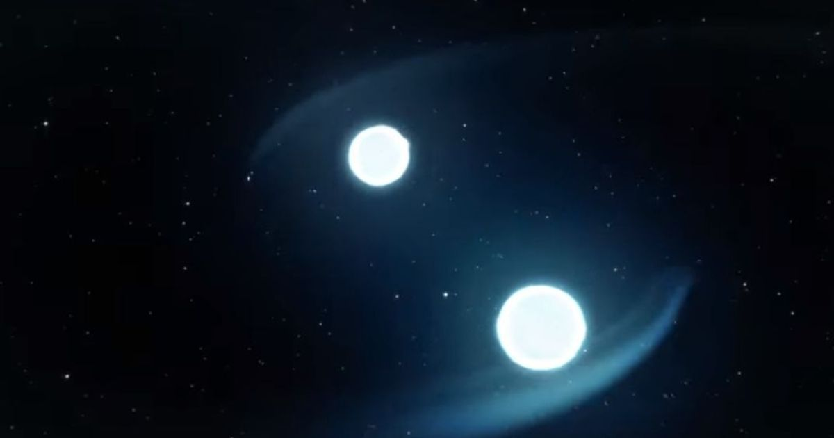 Gravitational wave created by neutron star collision that
