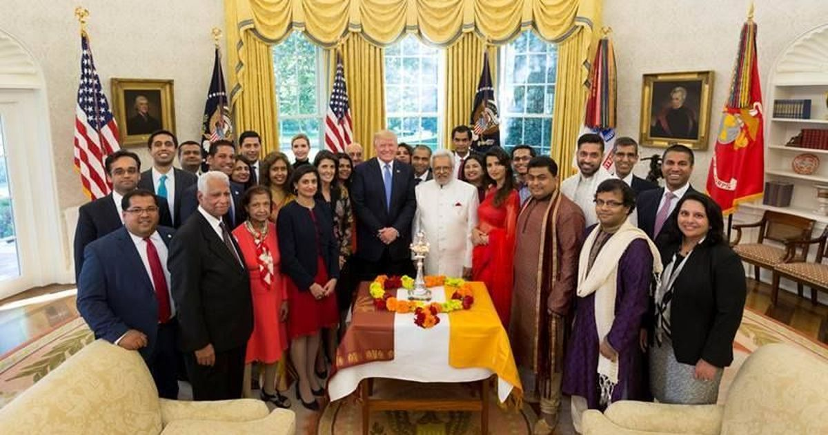 US President Trump celebrated Diwali at the White House