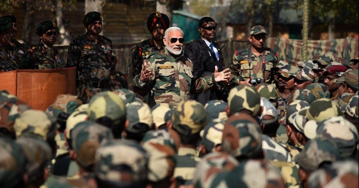 Modi spends Diwali with jawans in Kashmir, says government is committed to OROP scheme
