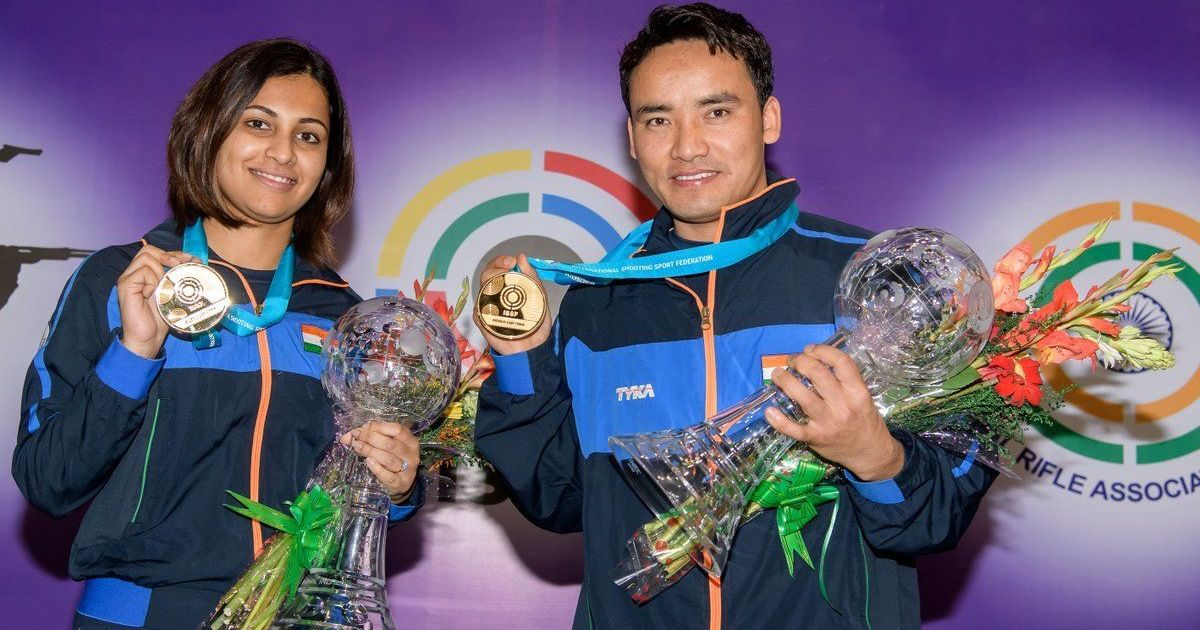 Jitu ,Heena win mixed team gold at ISSF Shooting WC Final
