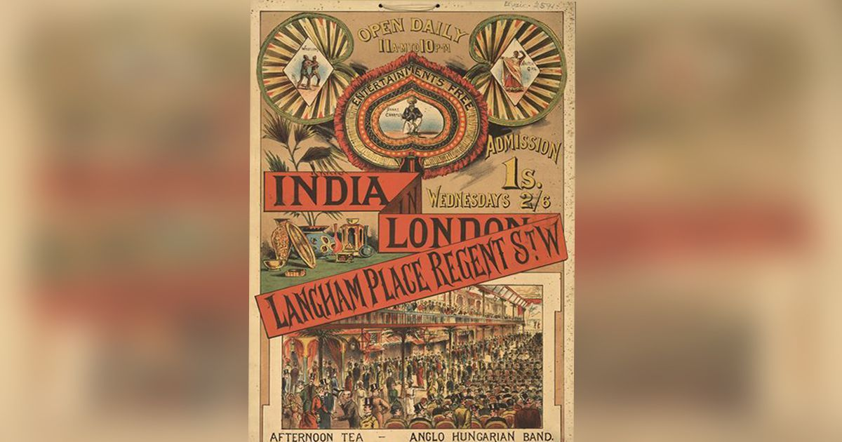 Paper bags and posters from 19th century show India's influence on British life and culture