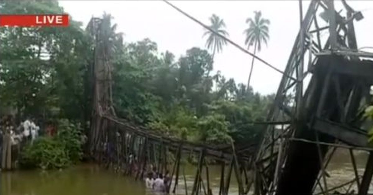 One dead, 57 injured after bridge collapses in Kerala